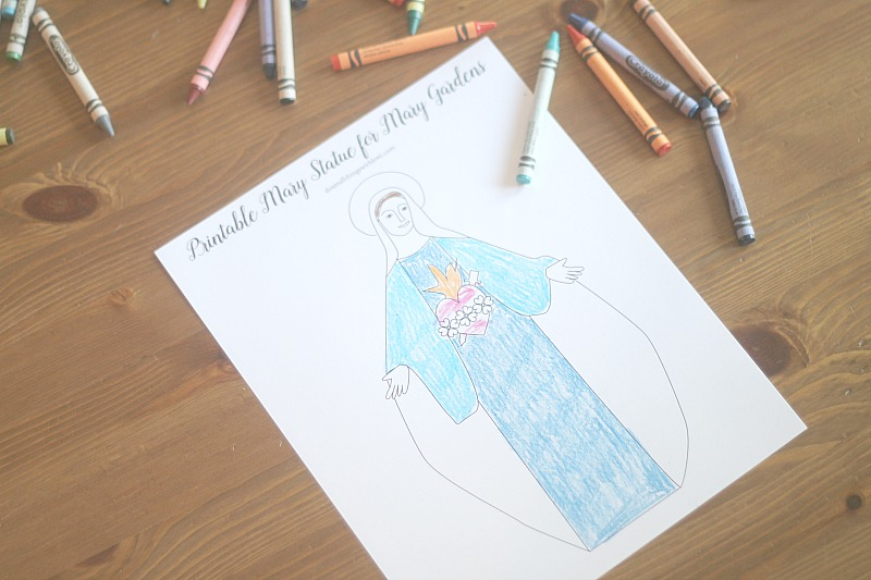 A Child's Mary Garden Coloring