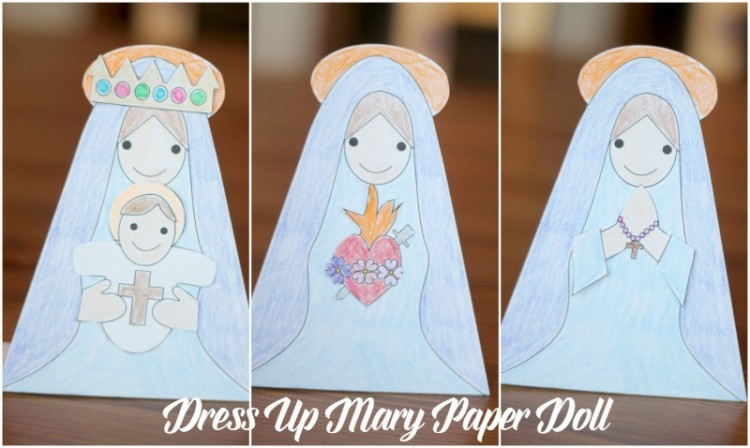 Dress Up Mary Paper Doll Printable