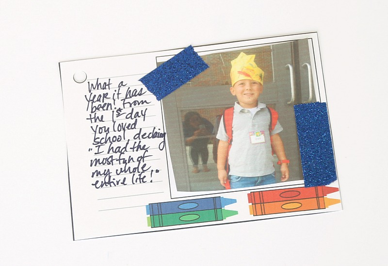 Free Printable Mini Scrapbook for school