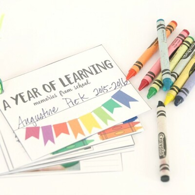 Free Printable Mini School Scrapbook