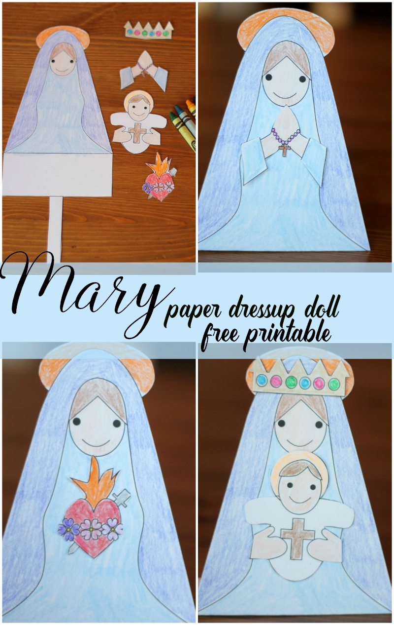 Mary Paper Doll Dressup Free Printable