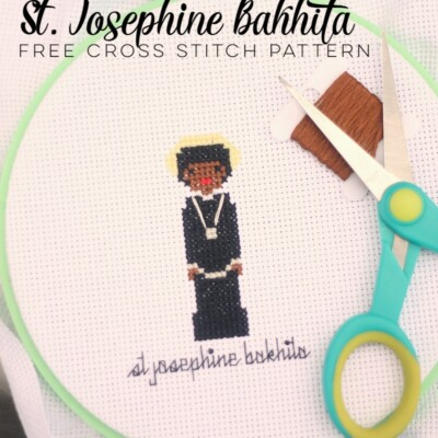 St. Josephine Bakhita Cross Stitch Pattern (free!)