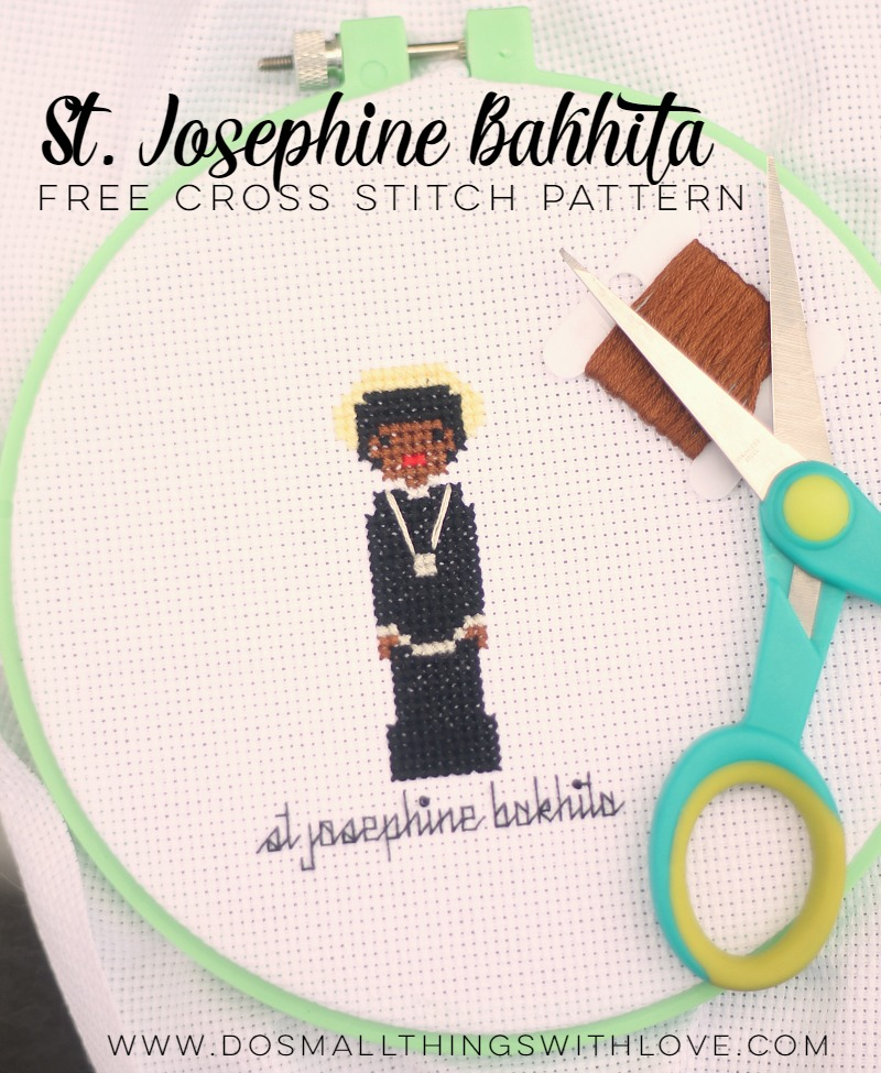 St. Josephine Bakhita free cross stitch pattern