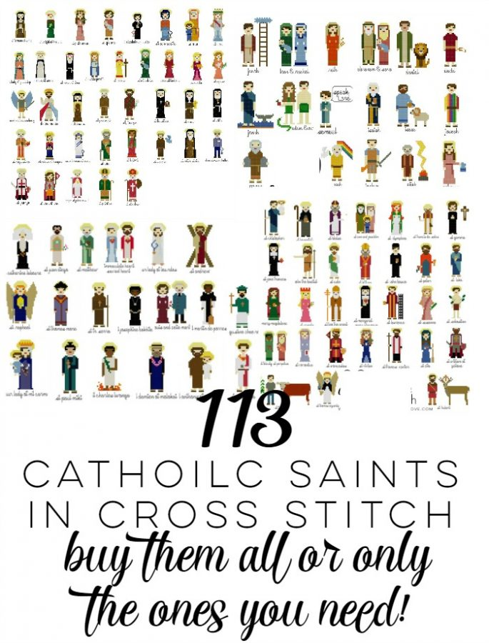 113 Catholic Saints in Cross Stitch–Get Only The Ones You Need!