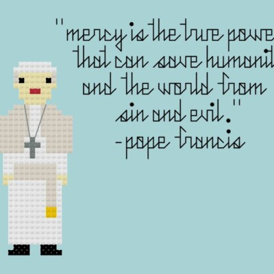Pope Francis on Mercy {free pattern}