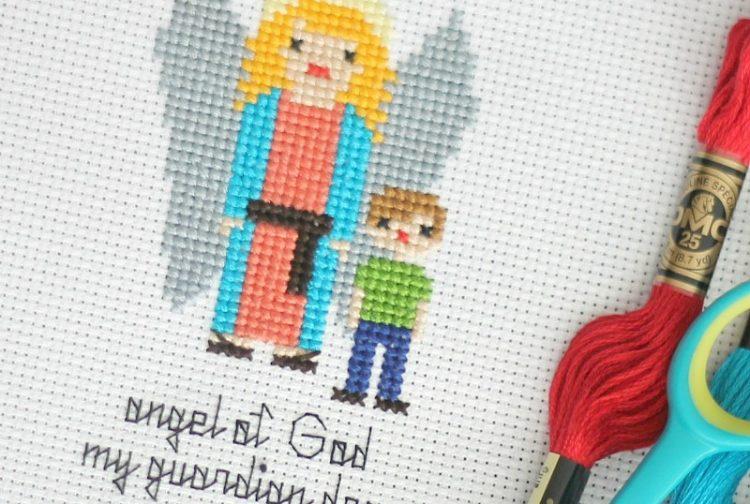 Guardian Angel Free Cross Stitch Pattern