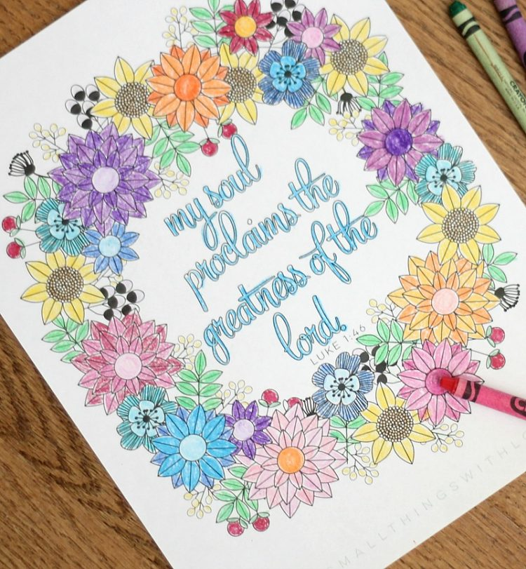 Magnificat: Catholic Moms Coloring Page
