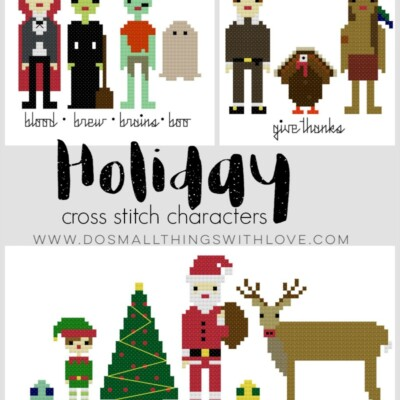 Holiday Characters in Cross Stitch