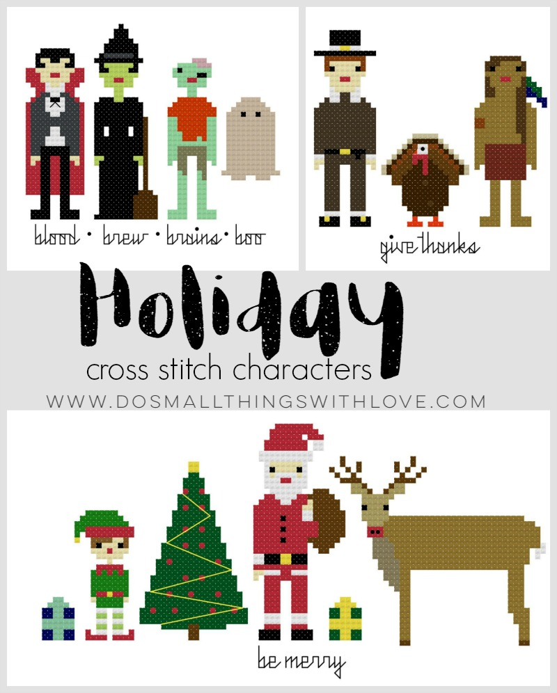 holiday-cross-stitch-character-patterns