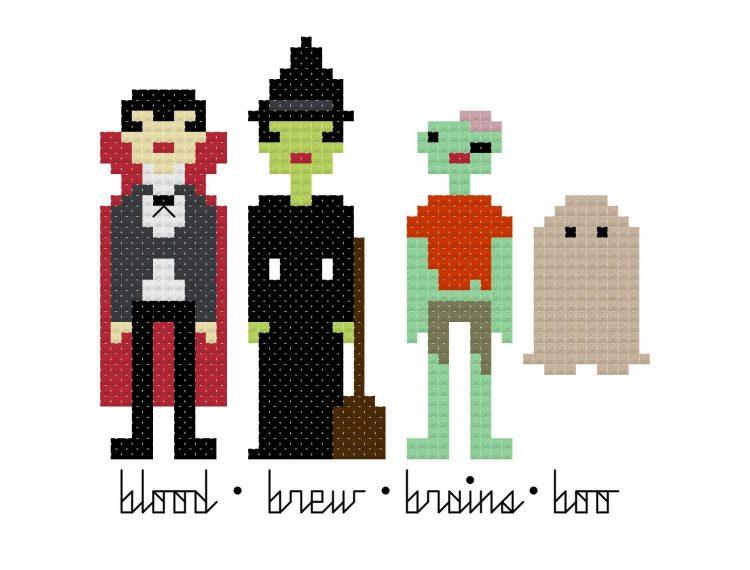 pixel-people-halloween