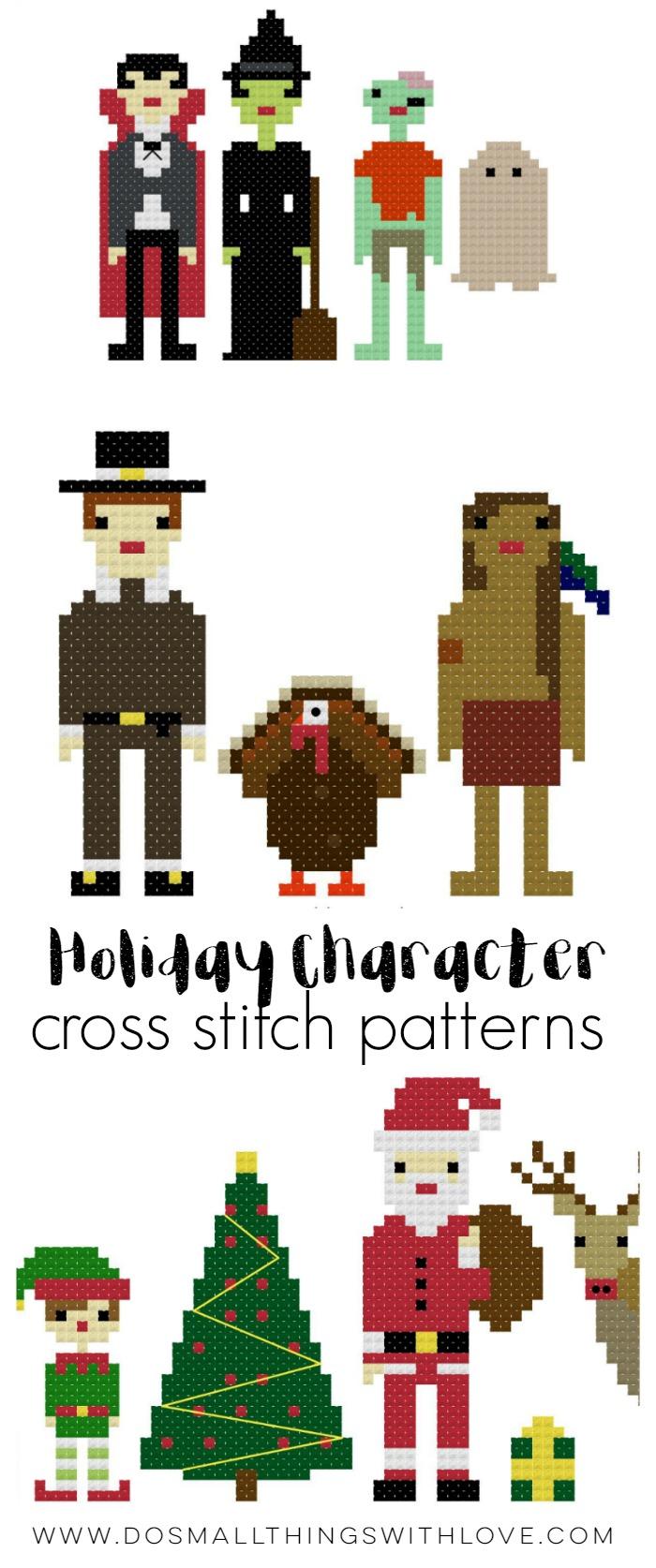 holiday-character-cross-stitch-patterns