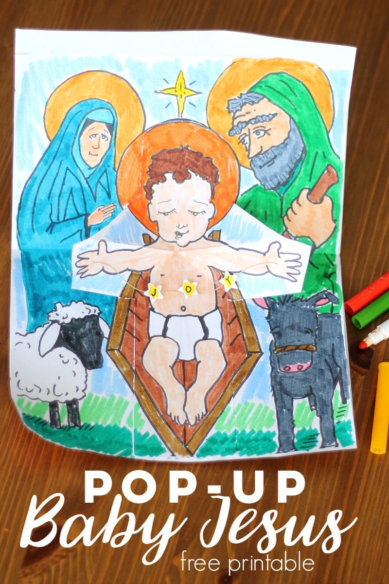PopUp Baby Jesus Printable Activity Catholic Sprouts