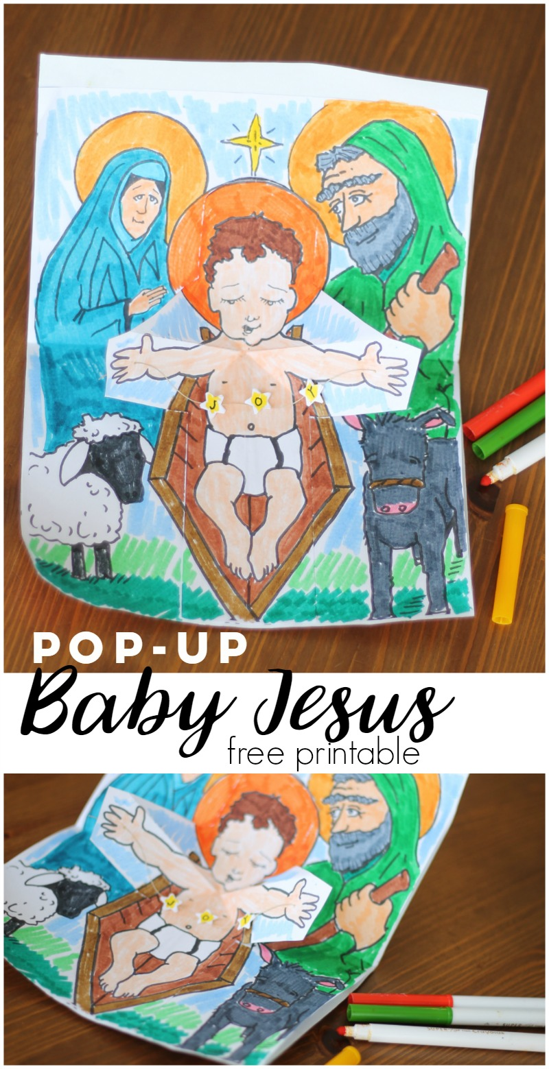 PopUp Baby Jesus Printable Activity