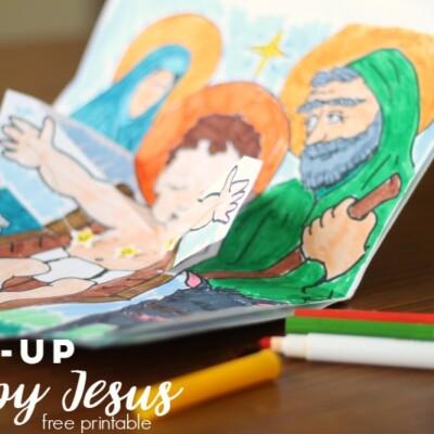 Pop-Up Baby Jesus Printable Activity
