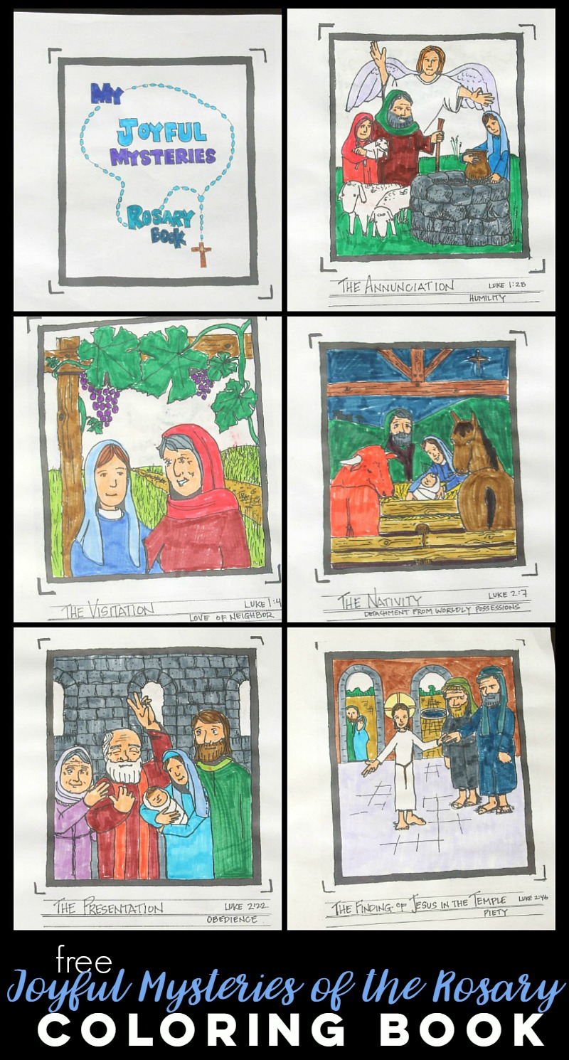 joyful mysteries of the rosary free coloring book u2013 do small