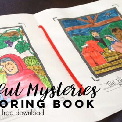 Joyful Mysteries of the Rosary: Free Coloring Book