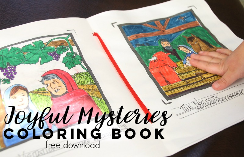 Joyful Mysteries of the Rosary: Free Coloring Book – Do Small ...