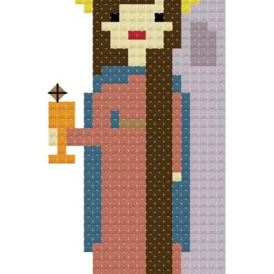 St Barbara and Blessed Oscar Romero {free cross stitch patterns!}
