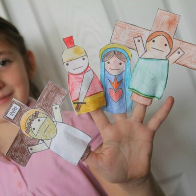 Free Printable Finger Puppets for Lent