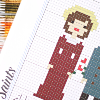 Because the Saints have the Best Stories: New Cross Stitch Book