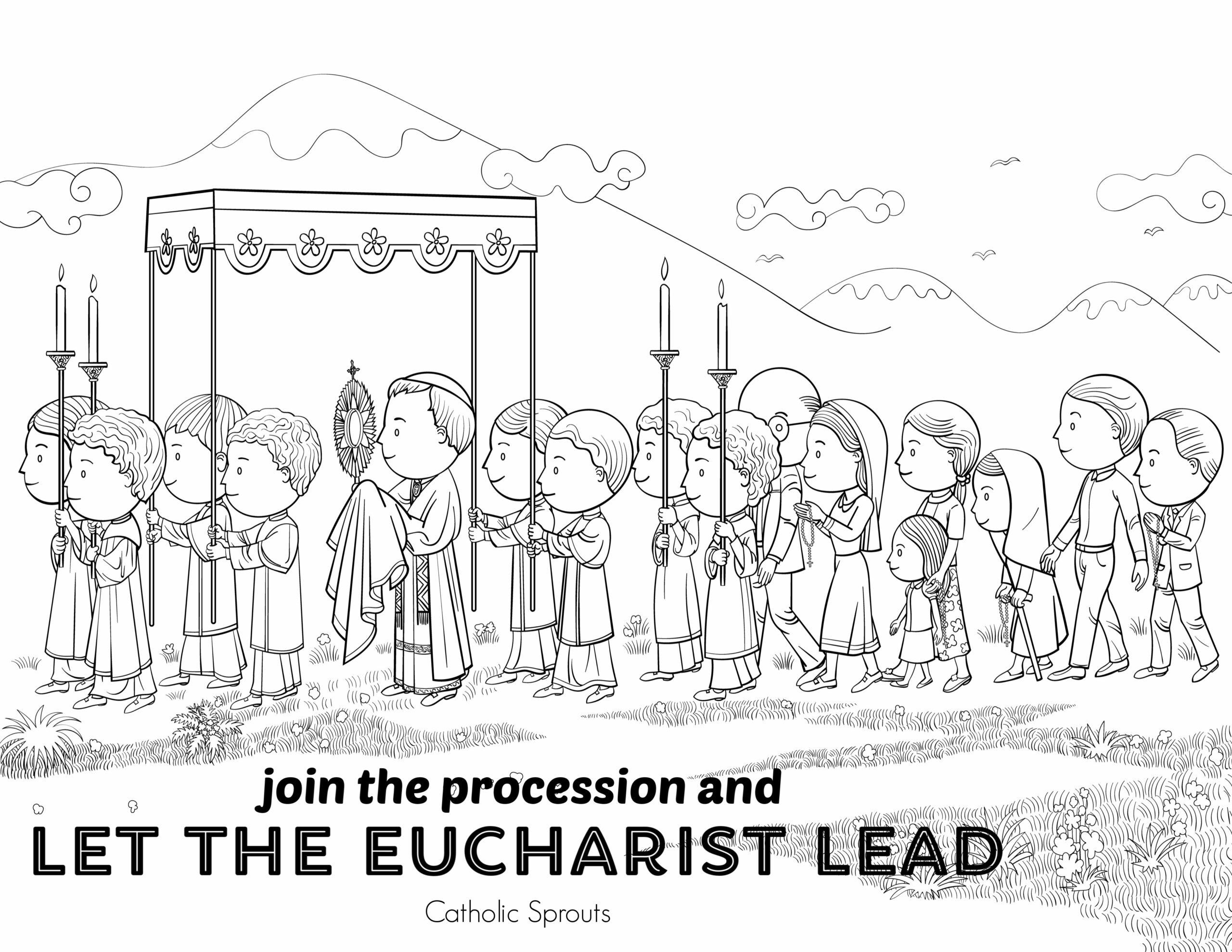 Eucharistic Procession Coloring